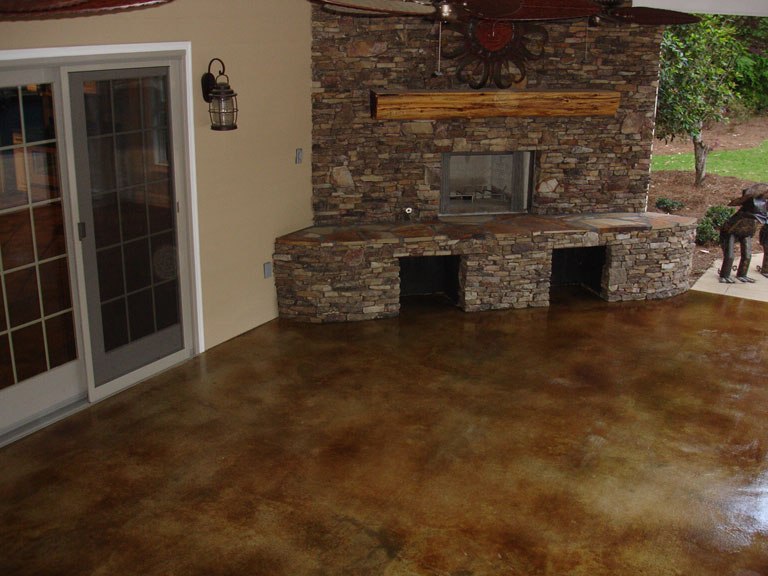 Concrete acid stain, variety of colors and sealer from Fabcrete ...